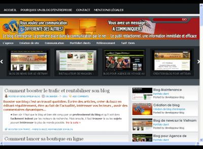 Refonte total du site Developpeur blog