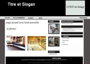 exemple maquette  blog pour conception de magasin