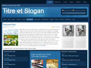 exemple maquette  site installateur magasin