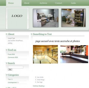 exemple maquette site  installateur de magasin