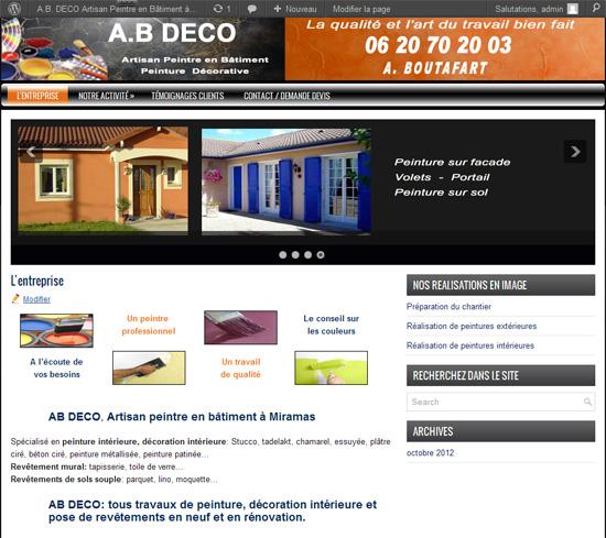 création du site peintre AB déco miramas