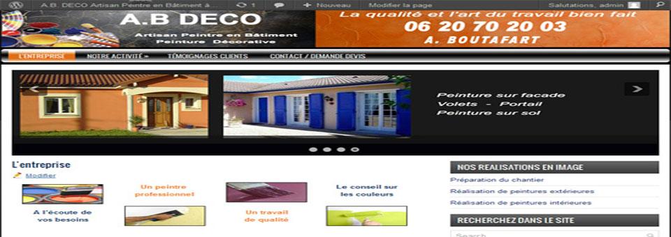 Création site pour artisan peintre en bâtiment