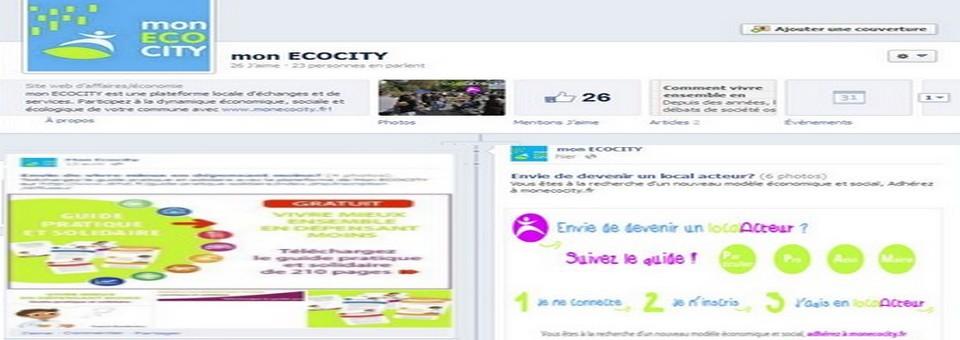 Création de la page facebook pro: mon ECOCITY