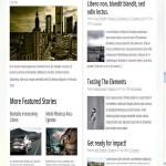 maquette blog pour journaliste