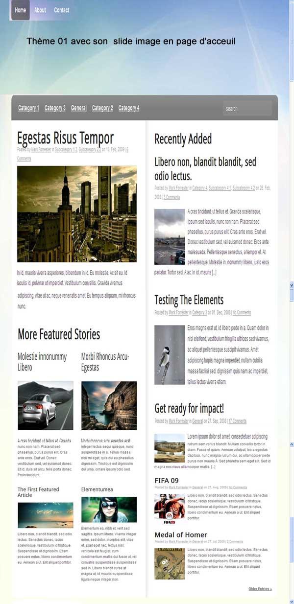 Maquette et devis pour création de blog pour un journaliste