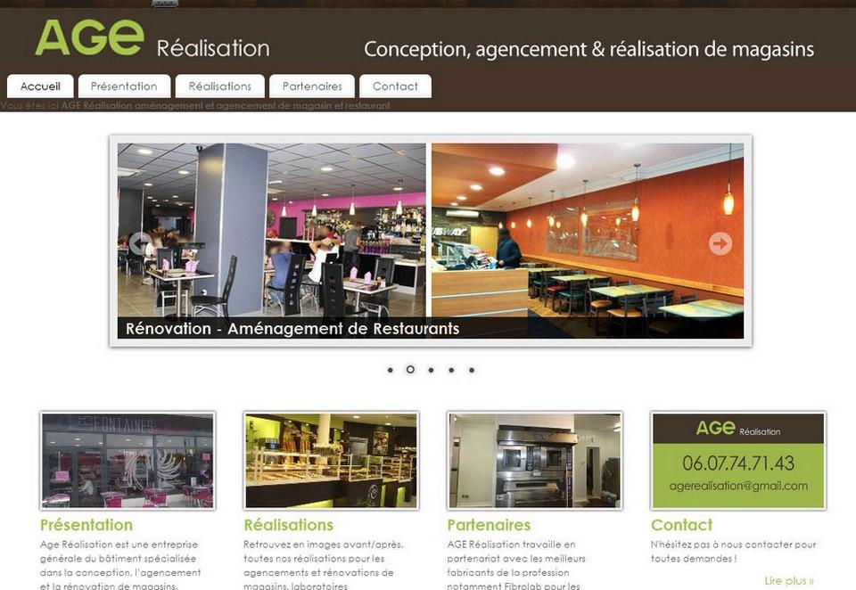 Création du site pour une entreprise en aménagement de magasin