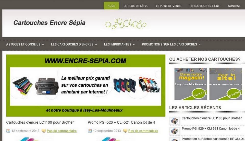 Création d'un blog pour dynamiser la boutique en ligne Cartouche Encre Sépia