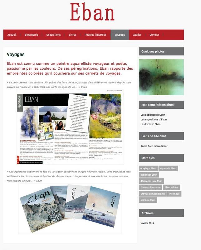 création blog Eban artiste peintre