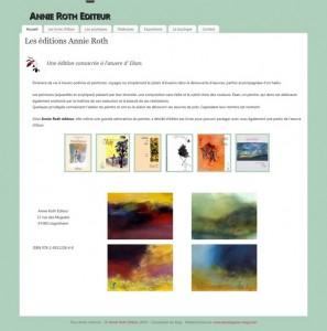 création du blog Annie Roth editeur