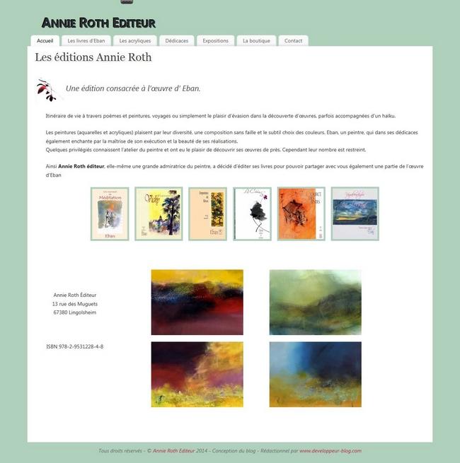 Création d'un site avec une boutique en ligne pour un Editeur de livre