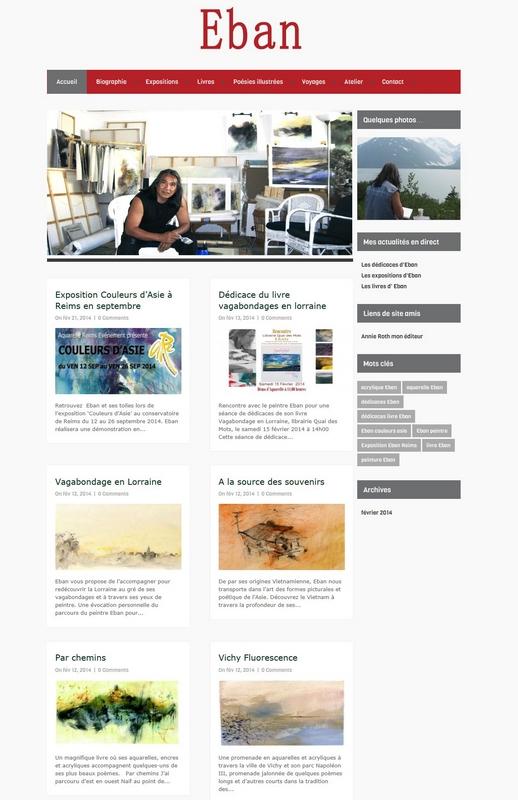 Création du blog pour l'artiste peintre Eban