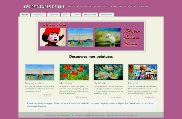 Création du site pour l'artiste peintre Lili