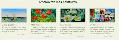 création site peintre Les peintures de Lili