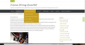 création blog musique pour mariage- ivana quatuor