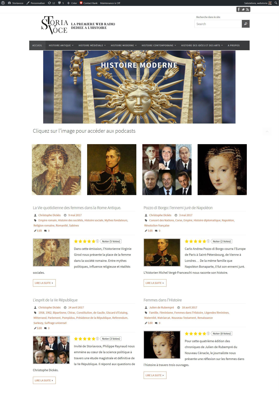 Création Blog  Storiavoce, Christophe Dickès Historien