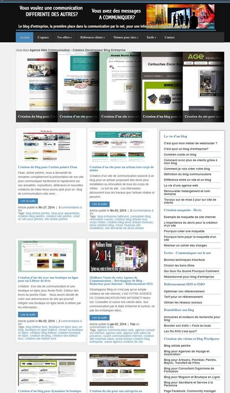 Exemple de maquette de site internet Créateur de site ...