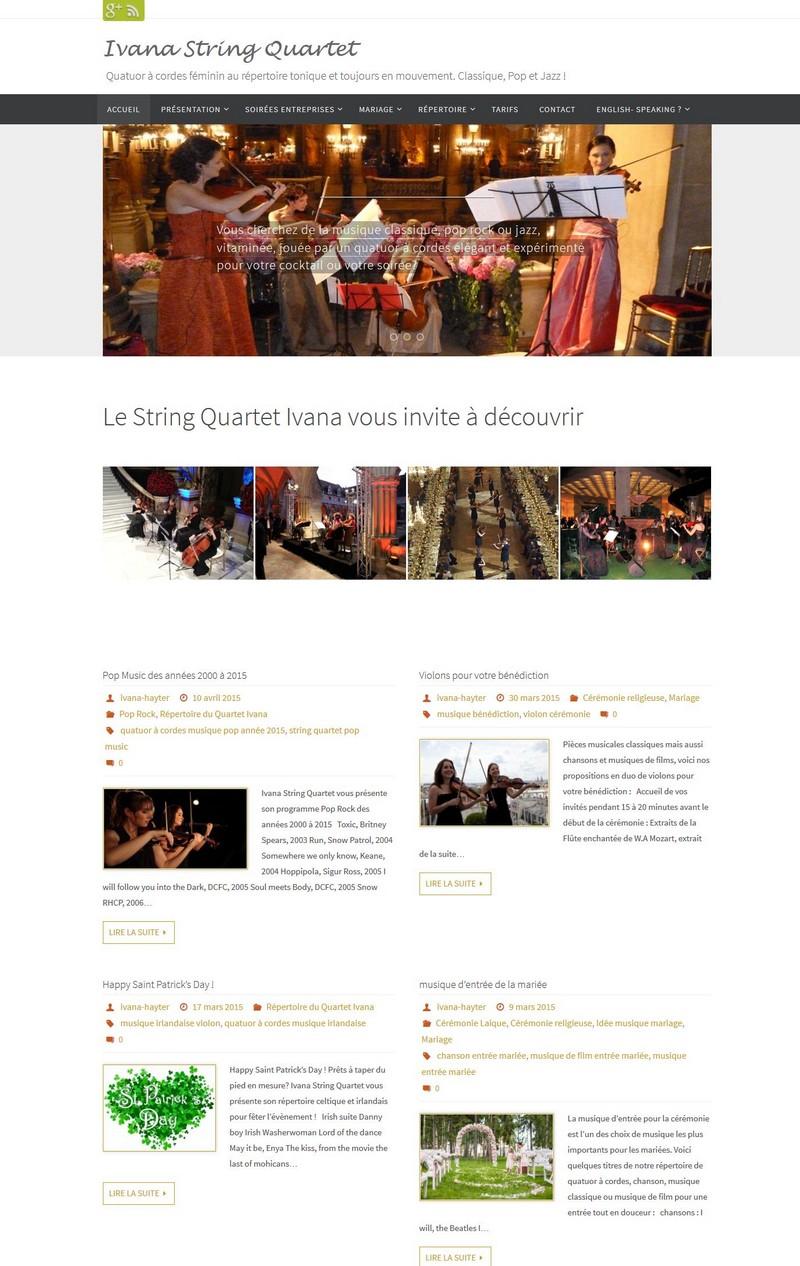Création du blog de communication pour Quatuor à cordes féminin