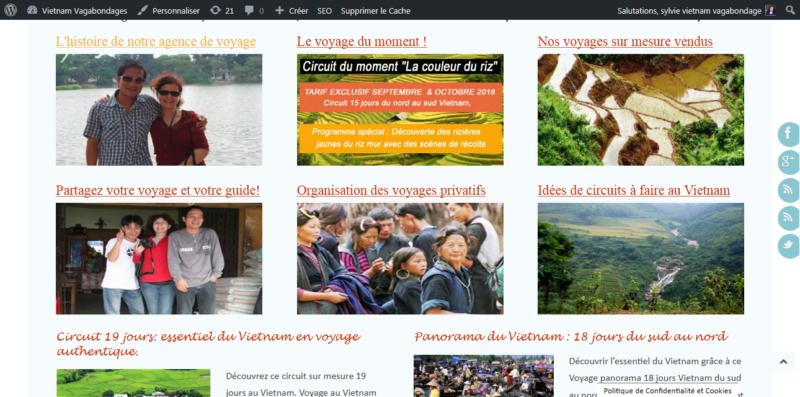 Creation blog agence de voyage indochine