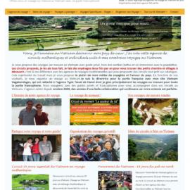 Création site internet agence de voyage en Indochine