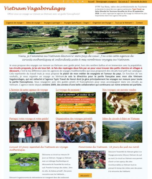 Creation site internet_agence voyage_Vietnam Vagabondages