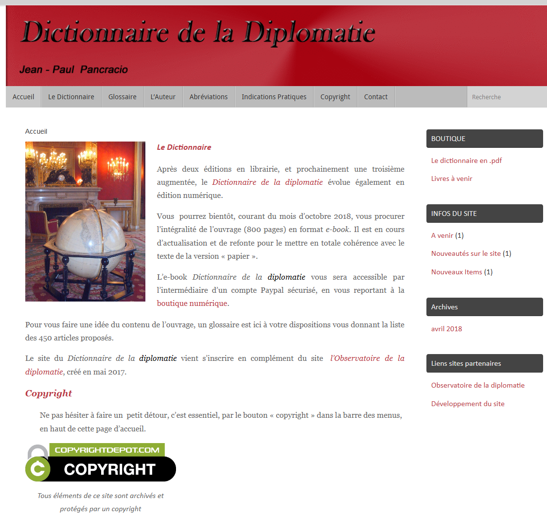 creation site dictionnaire